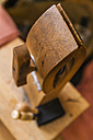Wooden lacing pony, close up - TCF004322