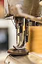 Leather sewing machine, close up - TCF004332