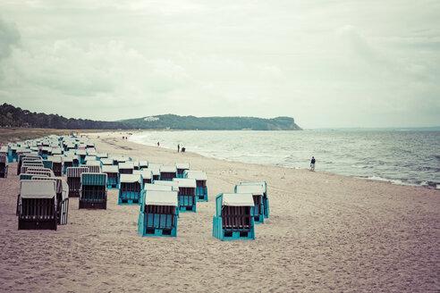 Germany, Mecklenburg-Western Pomerania, Ruegen, view to the beach at Baltic seaside resort Goehren - MABF000290
