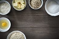Bowls with baking ingredients - EVGF001383
