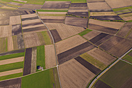 Germany, Baden-Wuerttemberg, aerial view of fields in the Swabian mountains - WDF002797