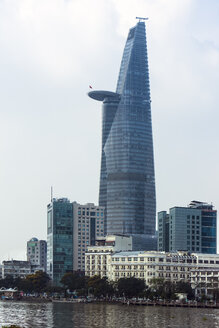 Vietnam, Ho Chi Minh City, branch of Saigon River and Bitexco Financial Tower - WEF000310