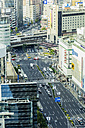 Japan, Kobe, traffic in downtown - THAF001059