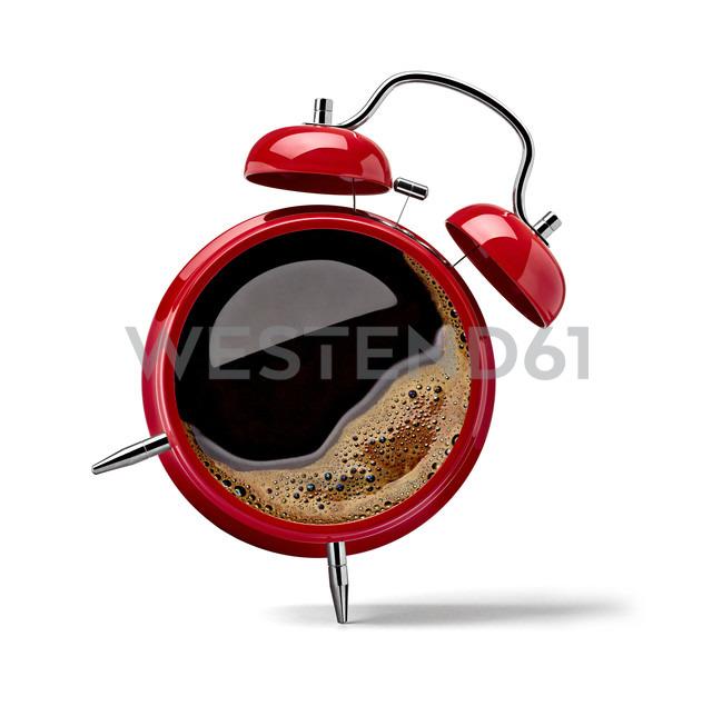 Red alarm clock with black coffee - RAMF000003