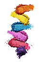 Make-up powder in different colours in front of white background - RAMF000008