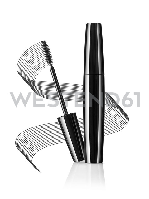 Black mascara in front of white background - RAMF000011