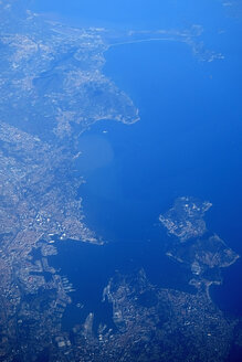 France, Southern France, Coast, Mediterranean Sea, Aerial view - NDF000482