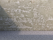 Old concrete wall and pavement, 3D Rendering - UWF000284