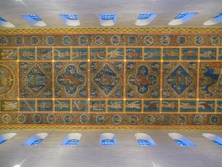 Germany, Hildesheim, wooden ceiling of St Michael's Church - AM003486