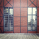 Germany, Dusseldorf, front of an old warehouse, Medienhafen - MS004418