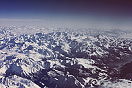 View of snowy Alps as seen from an airplane - MFF001335