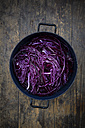 Cooking pot of raw red cabbage - LVF002524