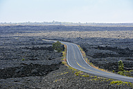USA, Hawaii, Big Island, Volcanoes National Park, Chain of Craters Road in between lava fields - BRF000934