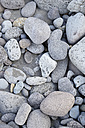 USA, Hawaii, Big Island, Waipio Valley, grey pebbles on black sand - BRF000973