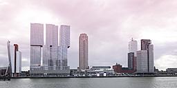 Netherlands, Rotterdam, Skyline, Nieuwe Maas river - WIF001204