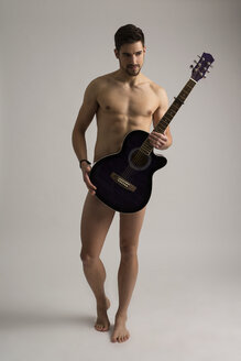Naked man with guitar - SHKF000129