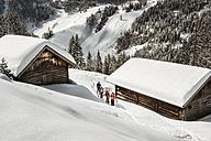 Austria, Salzburg State, Altenmarkt-Zauchensee, four skiing people - HH005016
