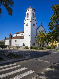 Spain, Canary Islands, La Palma, San Andres Los Sauces, church Nuestra Senora de Montserrat - AMF003574