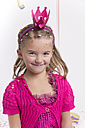 Portrait of smiling little girl masquerade as a princess - YFF000284