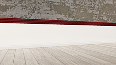 3D rendering of interior concrete wall and wooden floor - UWF000322