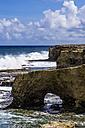 Caribbean, Antilles, Lesser Antilles, Barbados, Atlantic Ocean, Rocky coast, natural arche - THAF001116