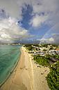 Caribbean, Antilles, Lesser Antilles, Barbados, beach near Garrison, rainbows - THAF001124