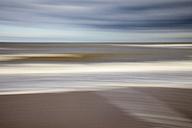 Netherlands, The Hague, Scheveningen, blurred North Sea Coast - WIF001205