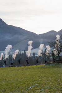 Germany, Bavaria, Berchtesgadener Land, traditional shooting - MJ001456