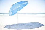 Blue sunshade on the beach - ZEF003326