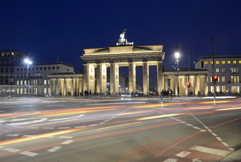 Germany, Berlin, Brandenburg Gate, Place of March 18 in the evening - BFRF000841