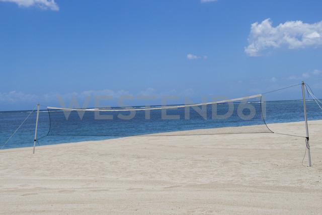 Mauritius, volleyball net on beach - JUNF000168 - JLPfeifer/Westend61