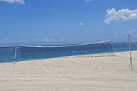 Mauritius, volleyball net on beach - JUNF000168