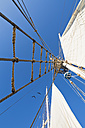 Rigging with rope ladder of a sailing ship - FOF007538