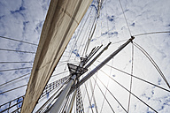 Rigging with sail of a sailing ship - FOF007539