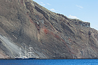 Pacific Ocean, sailing ship at Isabela Island, Galapagos Islands - FOF007566