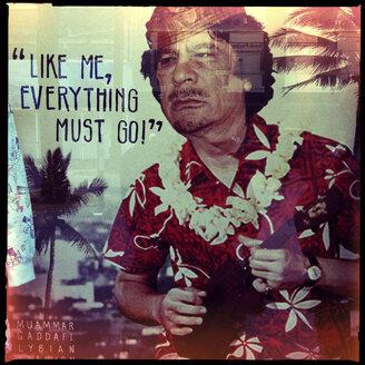 like me everything must go, political, fashion, sale, clothing, muammar gaddafi, lybian, dictator, sydney, australia - LUL000070