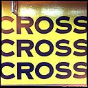 cross, to cross, 2cross, yellow, black, kings cross train station, sydney, australia - LULF000073