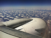 jet, airplane, wing, sign no step, clouds, stripes, aerial view, northern territory, australia - LUL000075