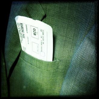 boarding pass in jacket - LUL000100