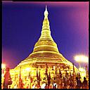 shwedagon pagoda, yangon, myanmar - LUL000107