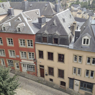 Luxembourg, row of houses at Rue Large - SEF000864