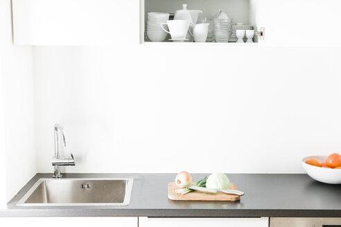 Modern kitchen, open kitchen cupboard - FLF000805