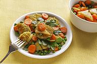 Vegetable stir-fry with thuringian dumplings, vegetarian - EVGF001098