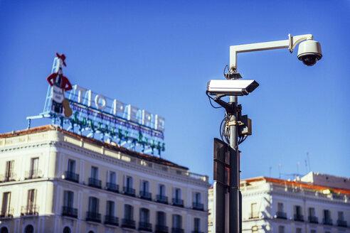Spain, Madrid, Puerta del Sol, CCTV cameras - EH000060