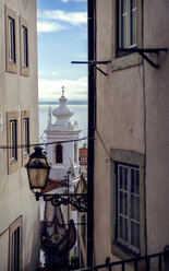 Portugal, Lisbon, alley at Alfama neighborhood - EHF000064