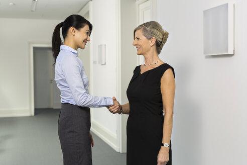Two businesswomen shaking hands - SHKF000212