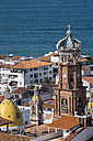 Mexico, Puerto Vallarta, spires of Church of Our Lady of Guadalupe - ABAF001615