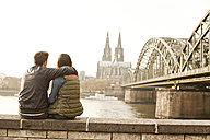 Germany, Cologne, happy young couple enjoying time - FEXF000270