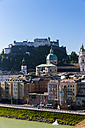 Austria, Salzburg, cityscape as seen from Kapuzinerberg - AMF003619
