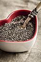 Heart-shaped bowl of chia seeds - SARF001264